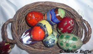 oeufs en céramique