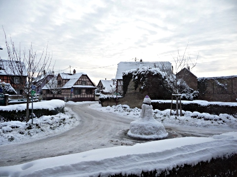 Noël 2010 - sam, bonhomme de neige illkirchois