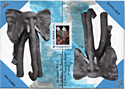 art postal thème Domino