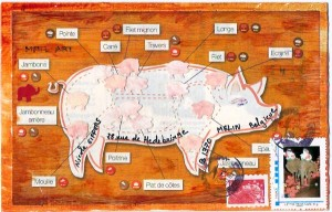 mail art theme cochon