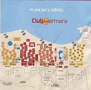 plan  hôtel dar djerba tunisie